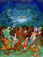Alice & The Cheshire Cat Fine Art Print