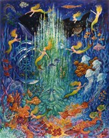 Neptune & The Mermaids Fine Art Print