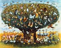 Noah And The Birds Fine Art Print