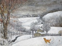 Daisy's First Snow Fine Art Print