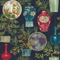 Japanese Vases Blue Fine Art Print