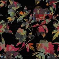 Mudan Silhouette Floral Fine Art Print