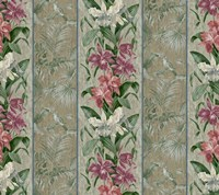 Orchid Toile Panel  Neutral Fine Art Print