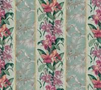 Orchid Toile Panel Celadon Fine Art Print