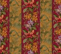 Orchid Toile Panel Cinnabar Fine Art Print