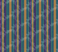 Scroll Stripe Teal Fine Art Print