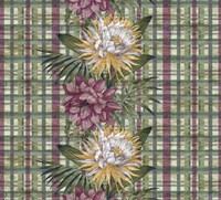 Cereus Plaid Sagep Plum Fine Art Print