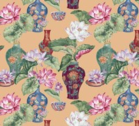 Chinese Vases Apricot Fine Art Print