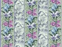 Orchid Panel Toile Frost Fine Art Print