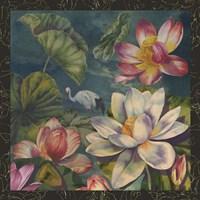 Lotus and Crane Fine Art Print