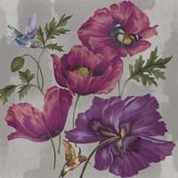 Poppies & Hummers Fine Art Print