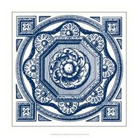 Indigo Medallion I Fine Art Print