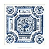 Indigo Medallion III Fine Art Print