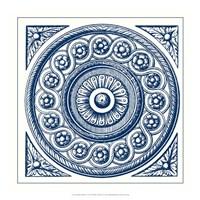 Indigo Medallion V Fine Art Print