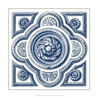 Indigo Medallion VI Fine Art Print