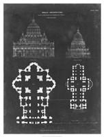 Plan & Elevation for St. Peter's & St. Paul's Fine Art Print