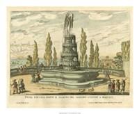 Italian Fountain IV Fine Art Print