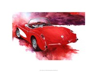 '57 Red Corvette Fine Art Print