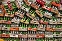soda pop bottles Fine Art Print