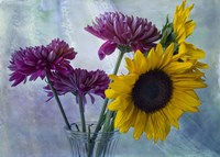 Mums & Sunflowers Fine Art Print