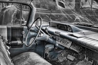 060 Buick Lesabre Interior BW Fine Art Print