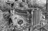 Tow Truck BW Fine Art Print