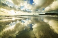 Kailua Beach Gold Streaks Fine Art Print