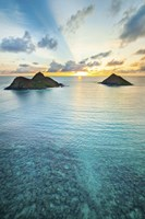 Lanikai Rainbow Sunrise Fine Art Print