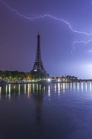 Lightening Over the Eiffel Fine Art Print