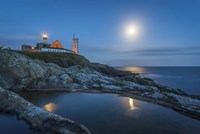 Lighthouse at Night Fine Art Print