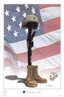 USMC Some Gave All Fine Art Print