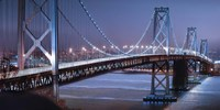 Oakland Bridge 2 Color Framed Print