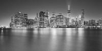 Manhattan Skyline Night 2 Fine Art Print