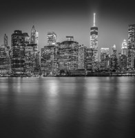 Manhattan Skyline Night 3 Fine Art Print