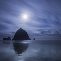 Moon Over Canon Beach Fine Art Print