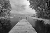 Dock at St. Joseph River, Centreville, Michigan '13-IR Fine Art Print