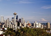 Seattle Cityscape, Seattle, Washington 02 - Color Fine Art Print