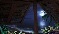 Tropical Dream Moon View Fine Art Print