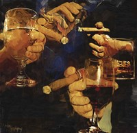 Party Cigar Fine Art Print