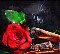 Rose Cigar Fine Art Print