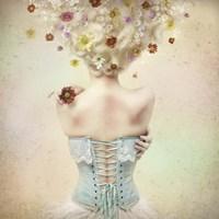 Girl of the Flower Garden Fine Art Print