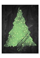 Chalkboard Tree 2 Framed Print
