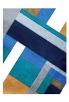 Stipe Overlay Blue Fine Art Print