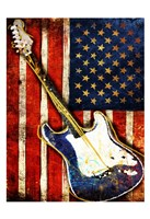 Patriotic Guitar Fine Art Print