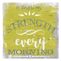 Be Our Strength Rustic Yellow Fine Art Print