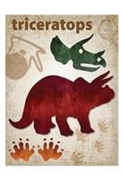 Triceratops Dinosaur Fine Art Print