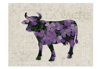 Flower Farm Bull Fine Art Print