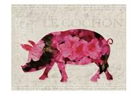 Flower Farm Pig Fine Art Print