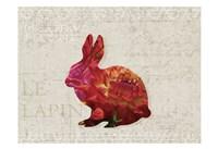Flower Farm Rabbit Fine Art Print