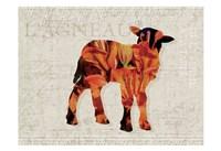 Flower Farm Lamb Fine Art Print